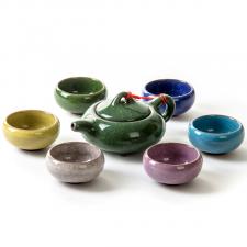 Keramikinis arbatinukas ir 6 pialos (7 vnt.)