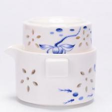 Porcelianinis Gaivanis su dviem pialomis (150 ml)