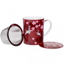 "Porcelianinis puodelis ""Origami"" su sieteliu (1 vnt.)"
