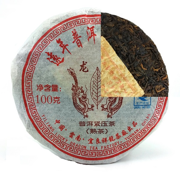 Ripe Pu-Erh (Lucky Dragon Classic: LONG YU / 2008 m.) arbata (100 g.)