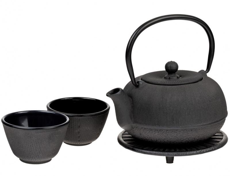 Ketaus arbatinukas ir 2 pialos (700 ml.)