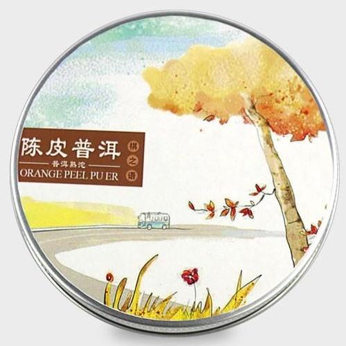 Ripe Pu-Erh (su APELSINO ŽIEVELE / 2016 m.) arbata (100 g.)