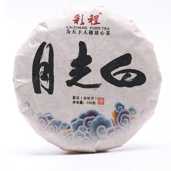 Baltoji (Caicheng Classic: YUE GUANG BAI / 2018 m.) Pu-Erh arbata (100 g.)