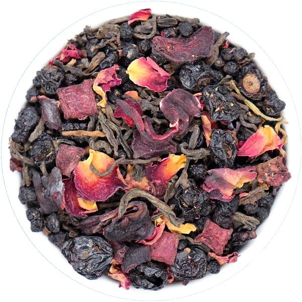 Ripe Pu-Erh arbata MĖLYNĖS - VYŠNIOS (30/50/100 g)
