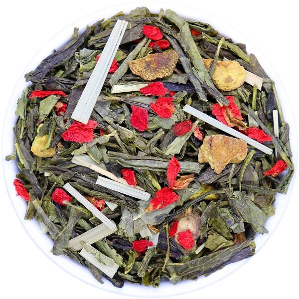 SENCHA žalioji arbata GRANATAS - CITRINŽOLĖ (30/50/100 g.)