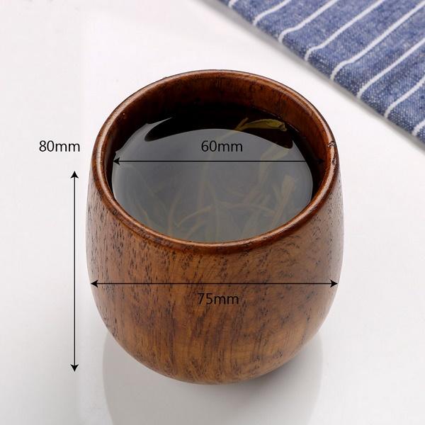 Medinė stiklinė (1 vnt.)
