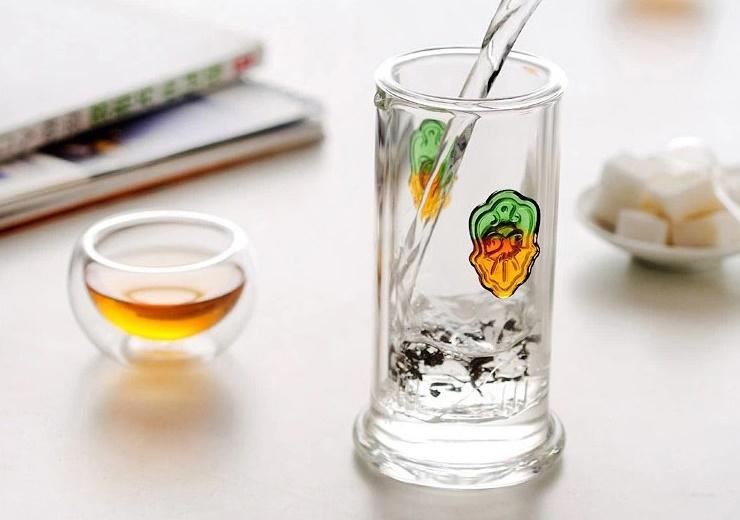 Stiklinis Kung Fu arbatos puodelis su filtru (180 ml.)