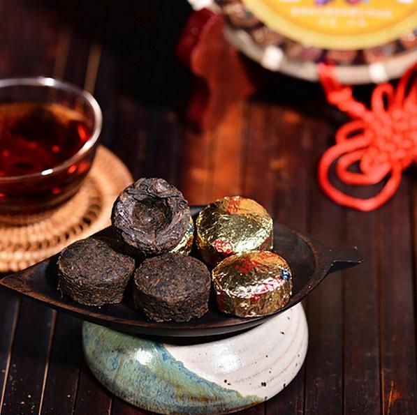 Ripe Pu-Erh (BAMBOO TUO CHA / 2015 m.) arbata (1 vnt.)