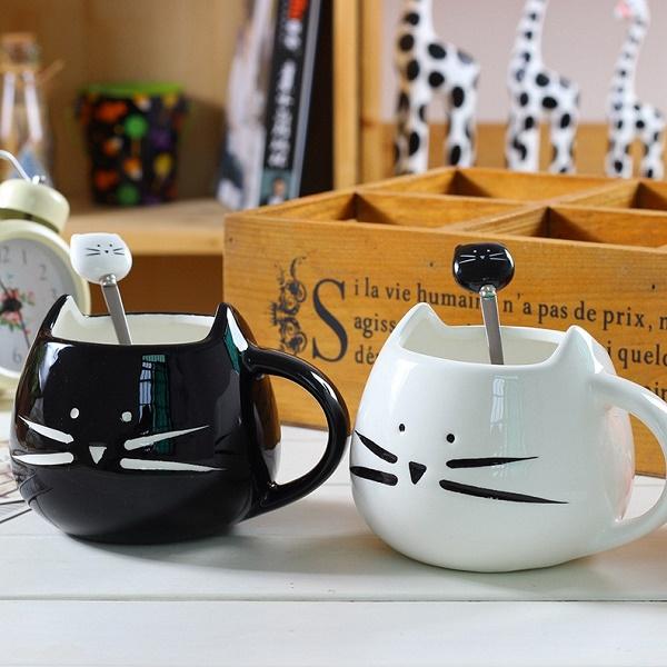 """Plieninis arbatos šaukštelis """"Katinas"""" (1 vnt.)"""
